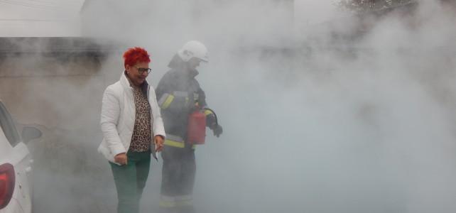 Ewakuacja dzieci z płonącego przedszkola w Damasławku…